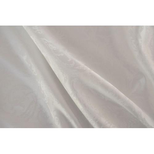 Κουρτίνες έτοιμες ραμμένες  ταφτά ζακάρ λευκό σπαστό KE 1617 (280X220cm)  - με τρέσα