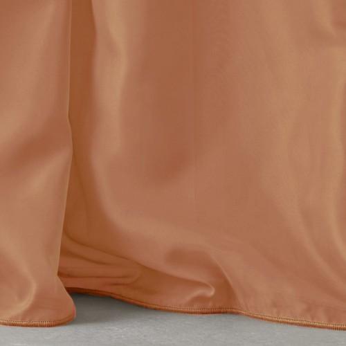 Κουρτίνες έτοιμες ραμμένες με τρουκς βουάλ  πορτοκαλί KET525 (280x300cm)