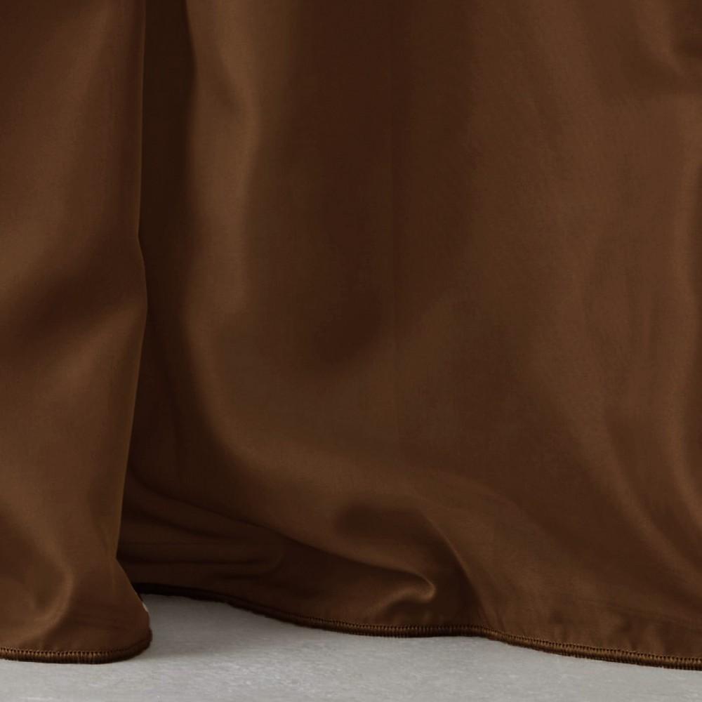 Κουρτίνες έτοιμες ραμμένες με τρουκς βουάλ  καφέ KET812 (280x140cm)