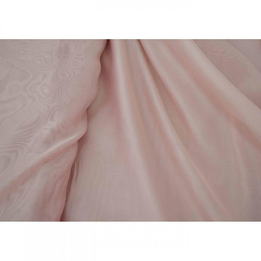 Κουρτίνες έτοιμες ραμμένες βουάλ  Ροζ KE 805 (280x140cm) - με τρέσα