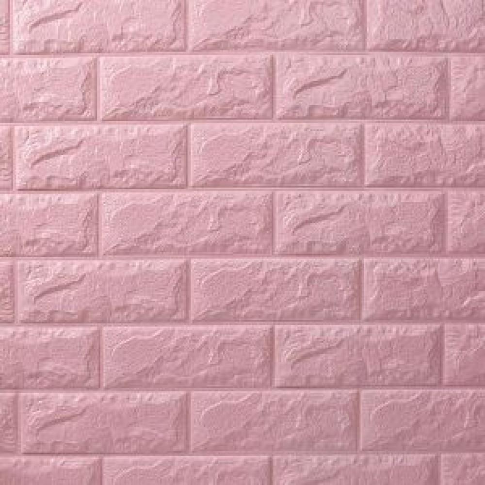 3D Αυτοκόλλητο πάνελ τοίχου τούβλο ροζ (τμχ) FWP08