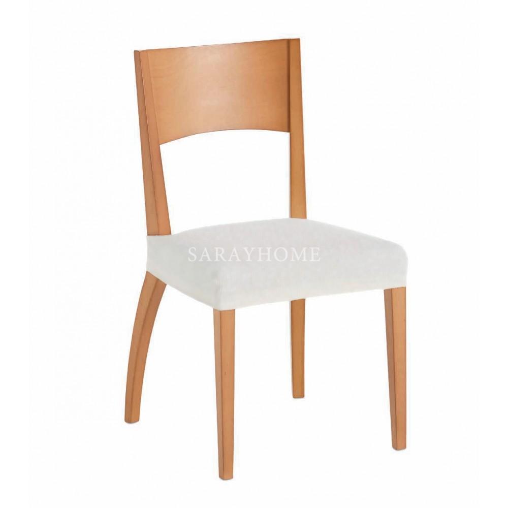 Σετ (6τμχ) Ελαστικά Καλύμματα Καθίσματος Καρέκλας Parga KK048-WH