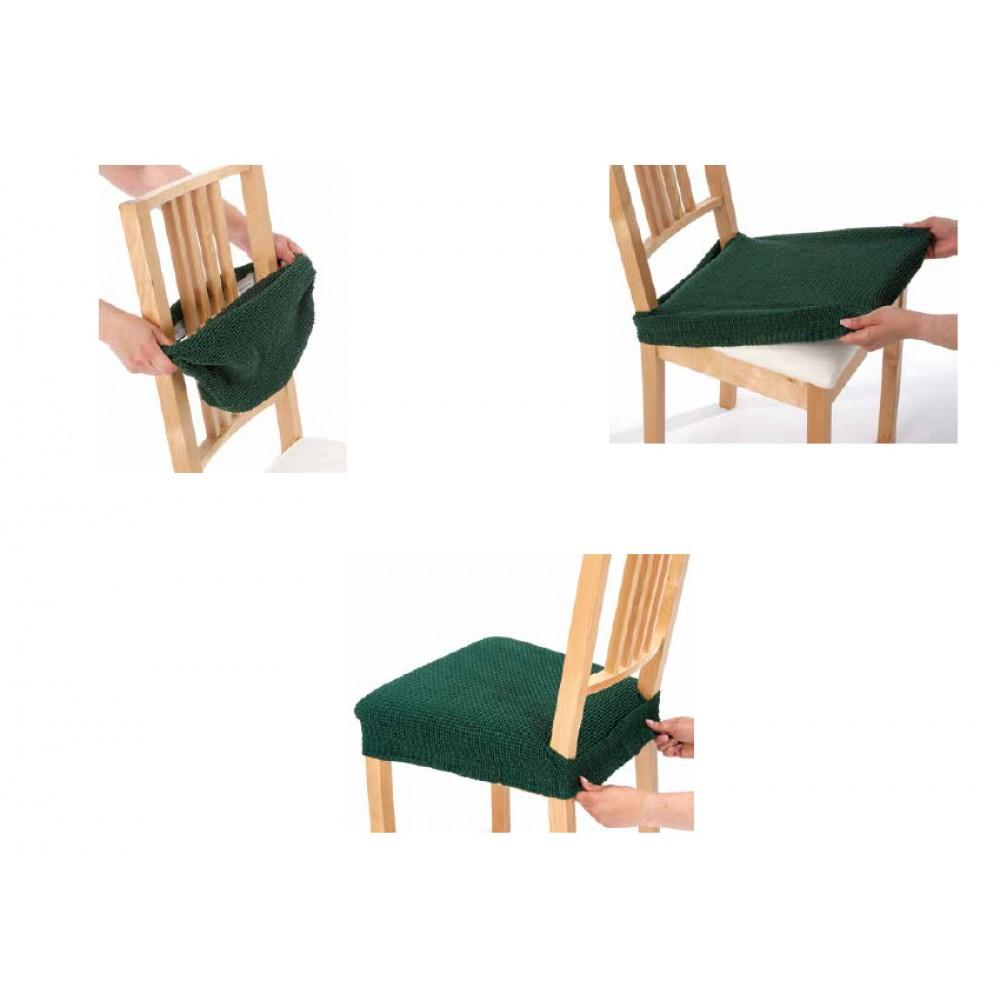 Σετ (2τμχ) Ελαστικά Καλύμματα Καθίσματος Καρέκλας διπλής ελαστικότητας Canada KK037-PR