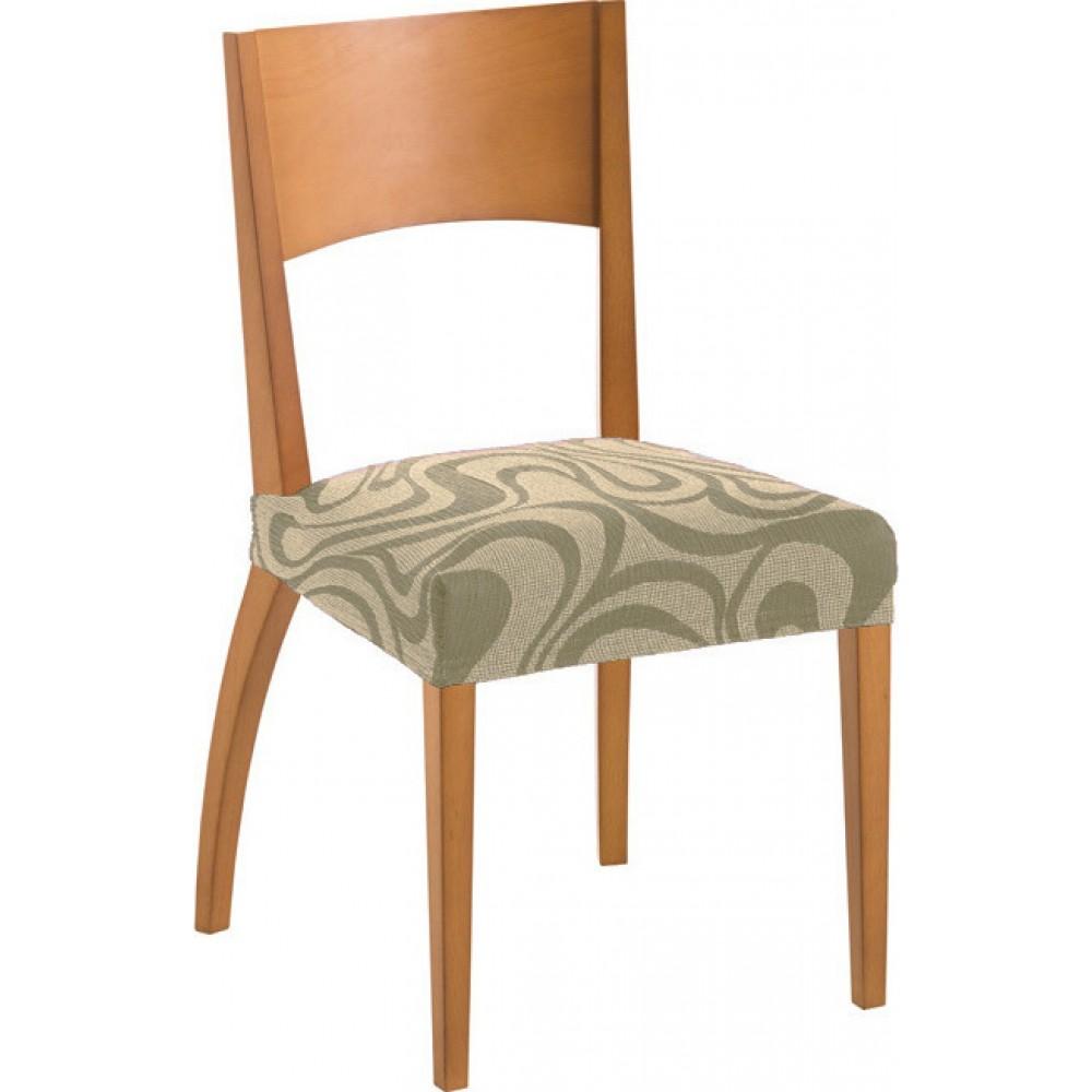 Σετ (2τμχ) Ελαστικά Καλύμματα Καθίσματος Καρέκλας DANUBIO KK021-BG