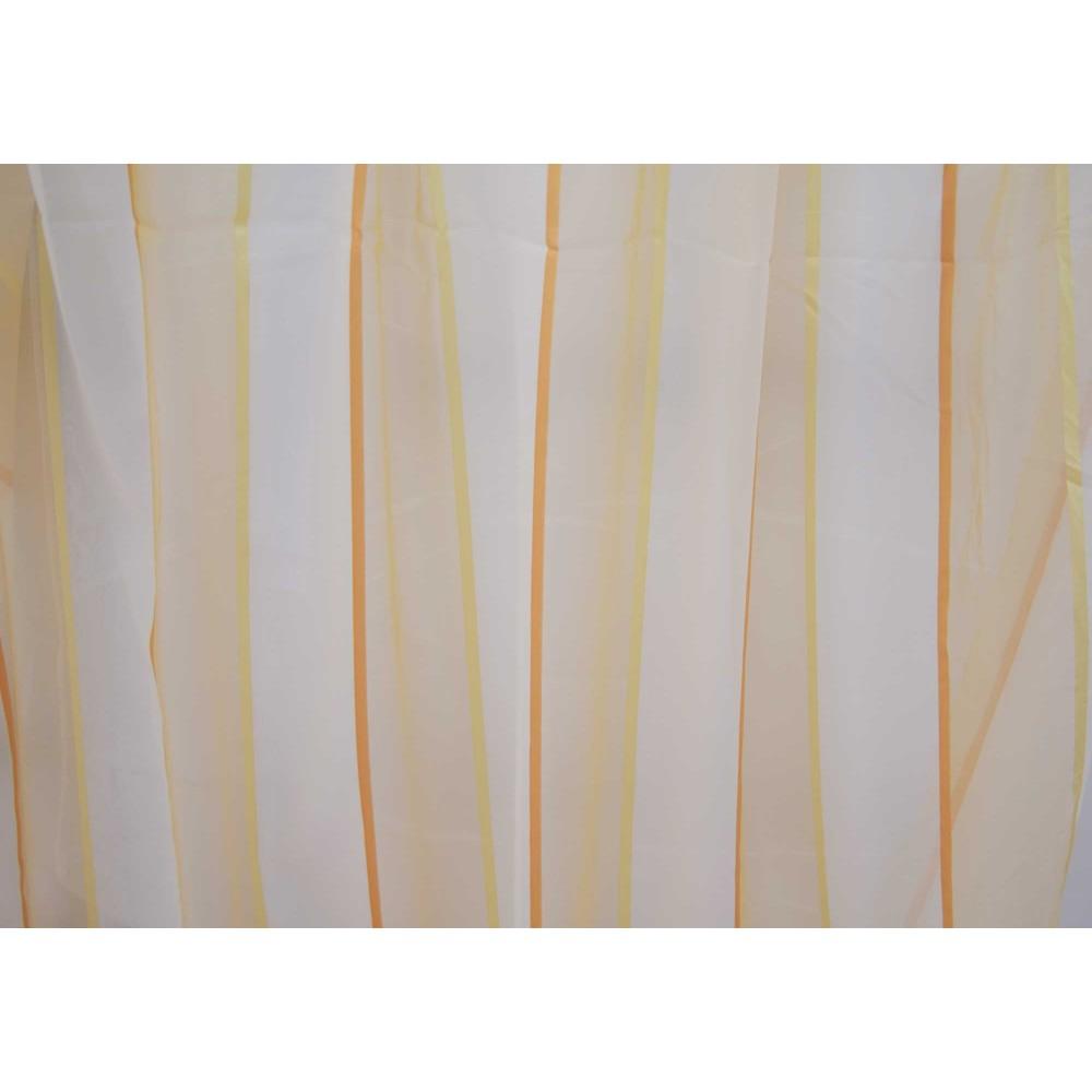 Κουρτίνες έτοιμες ραμμένες βουάλ λευκό με ρίγες KE 500 (280X140cm)