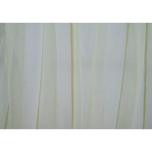 Κουρτίνες έτοιμες ραμμένες βουάλ λευκό με ρίγες KE 058  (280X140cm)